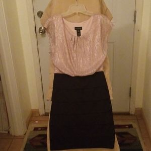 Black & Blush metallic dress